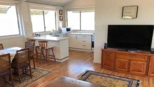 TV & kitchen area