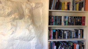 Cutting room bookshelf